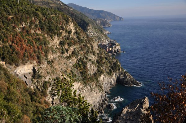 The five villages of the Cinque Terre sit on the rugged ligurian coast