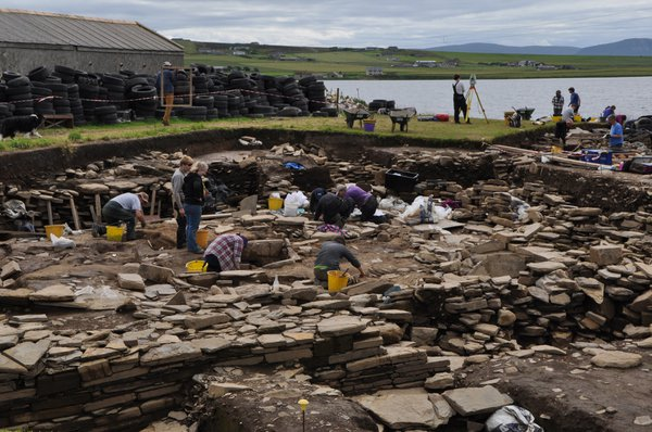 Archaeological dig at the Ness of Brodgar, Orkney