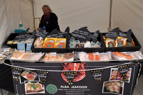 Scottish salmon and seafood on display at Paisley Food and Drink Festival