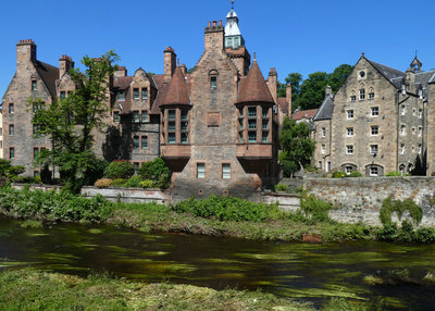 Dean Village on the banks o the Water of Leith