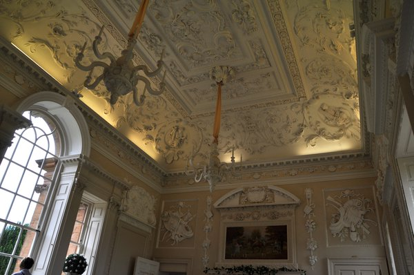 The plaster work in a room at Chatelherault