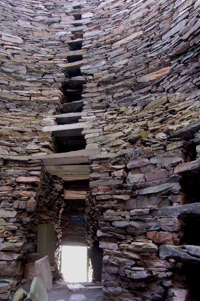 The doorway in and out of Mousa Broch could be sealed in times of attack