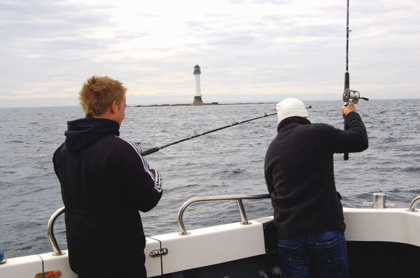 Fishing near the Bell Rock Lighthouse