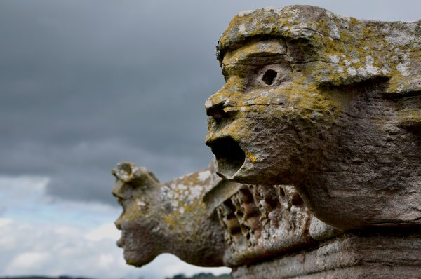 Gargoyles on the walls of Melrose Abbey were placed there to ward off evil