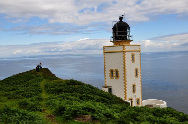 Great views from near the unusual square lighthouse on Holy Isle