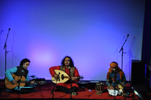 Indian musicians performing at Celtic Connections