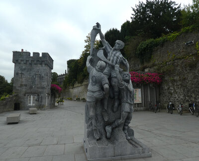 Kilkenny Hurley Sculpture and approach to riverside walk