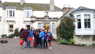 Leaving Craigellachie Lodge for last day on the river