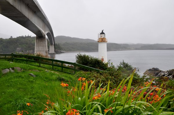 Eilean Ban Lighthouse and Isle of Skye Bridge