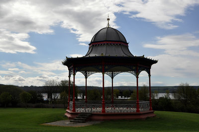 The bandstand on Magdalen Green is a stage for summer time concerts