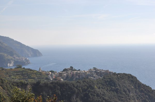 To the east of the Cinque Terre villages the land is a National Park.