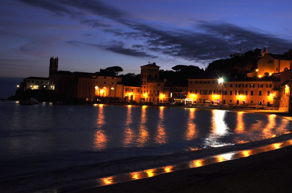 Part of the town of Sestri Levante follows the curve of the Bay of Silence