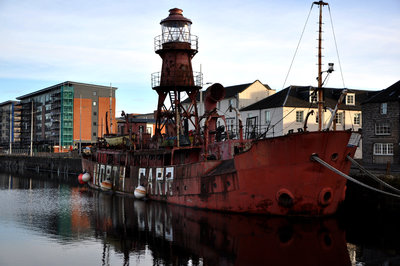 The North Carr Lightship was once a beacon on the River Tay estuary