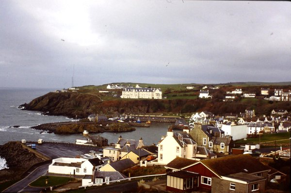 A view over Portpatrick from the east