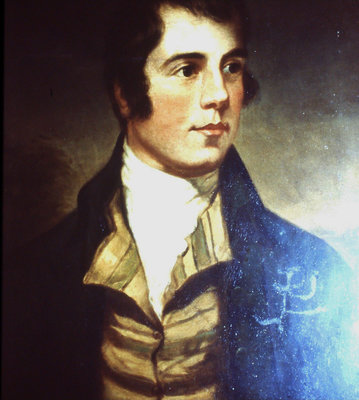One of many portraits of Robert Burns