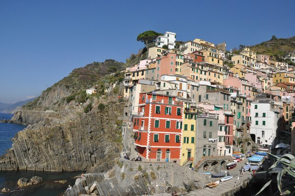Riomaggiore is the furthest south of the five villages of the Cinque Terre