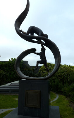 Sculpture commemorating Irish famine victims in Kilkenny