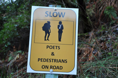 Drivers watch out for poets and walkers