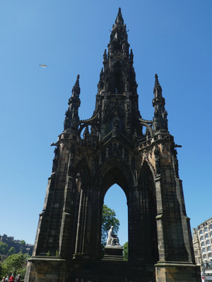 The Sir Walter Scott monument on Princes Street