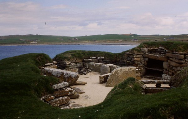 Skara Brae was uncovered by a storm.