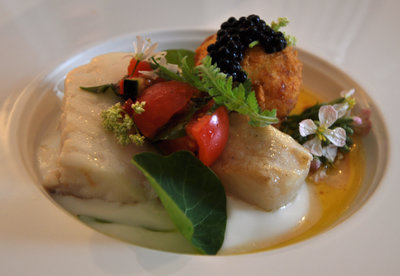 A fish dish chosen from the Whitehouse tasting menu