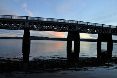 The Tay Rail Bridge seen from Riverside Drive