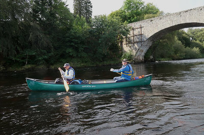 Setting off from the Old Spey Bridge at Grantown-on-Spey