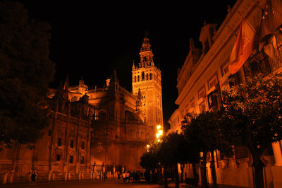 The Giralda(Bell Tower) of Seville Cathedral