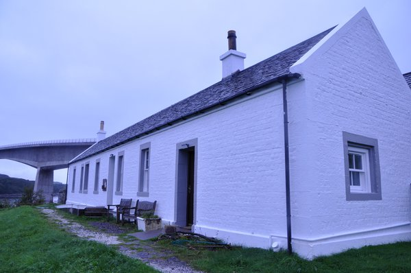 The cottage where Gavin Maxwell lived on Eilean Ban