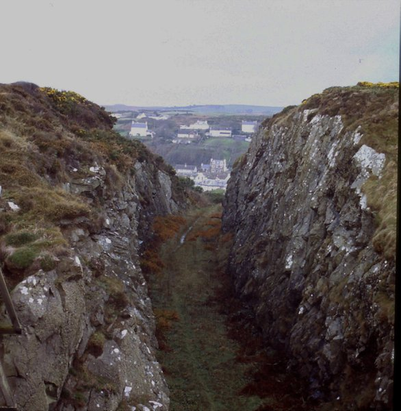 The base of the canyon was the floor for the railway line into Portpatrick