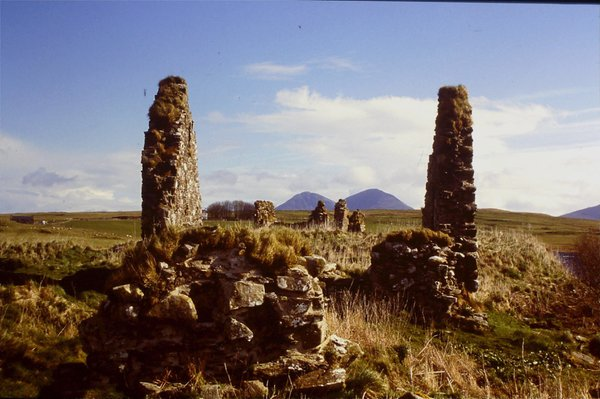 The remains of ancestral meeting places of the Clan MacDonald on Isle of Islay