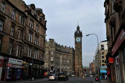 Glasgow Cross and Tolbooth Steeple from Saltmarket