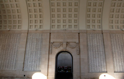 The walls of the Menin Gate carry the names of thousands of fallen soldiers with no known grave