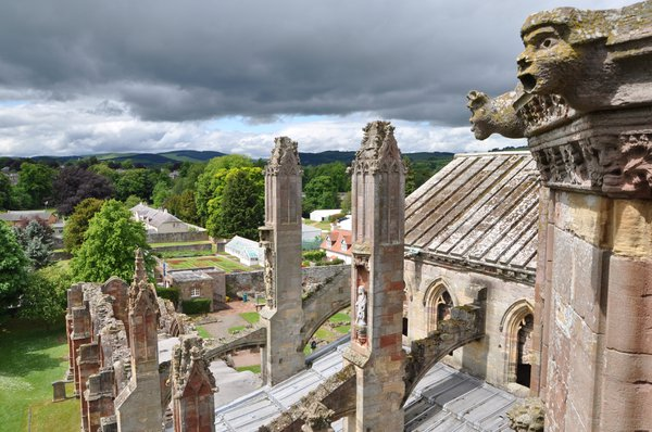 View from the Bell Tower of Melrose Abbey
