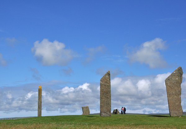 Visitors at the Standing Stones of Stenness