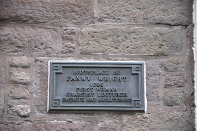 The plaque commemorates Fanny Wright