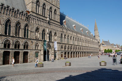 Ypres buildings flattened in the war were completely rebuild as the original